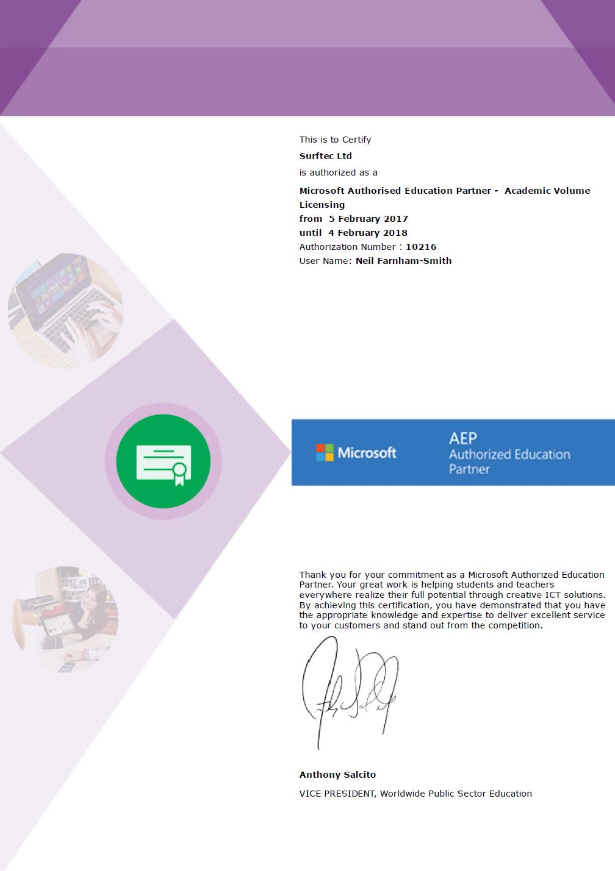Microsoft Surftec Ltd